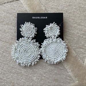 BaubleBar White Earrings
